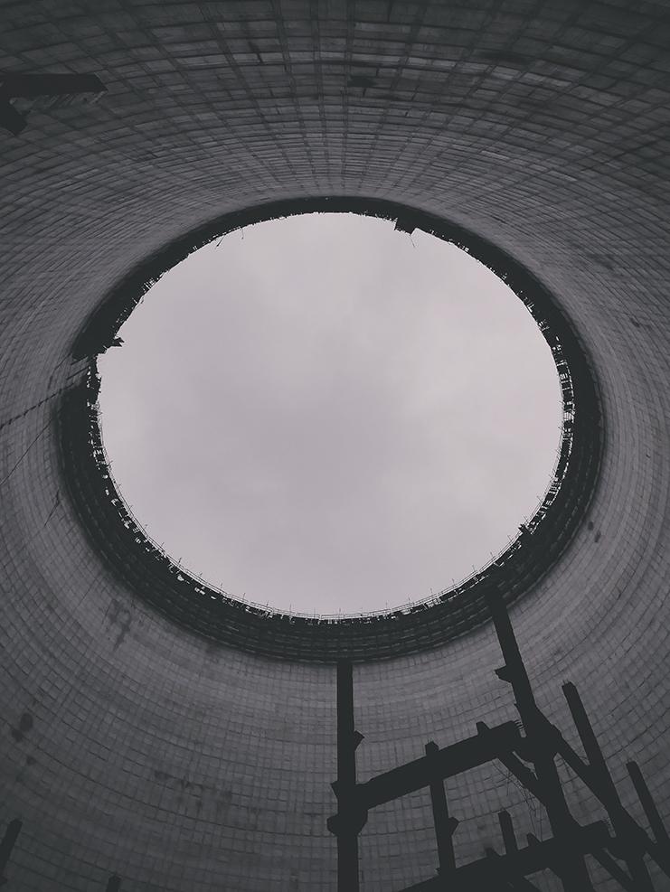 Il reattore numero 4, in costruzione e mai terminato
