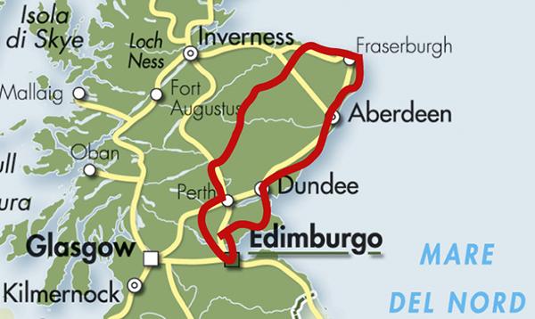 mappa scozia tour aberdeenshire