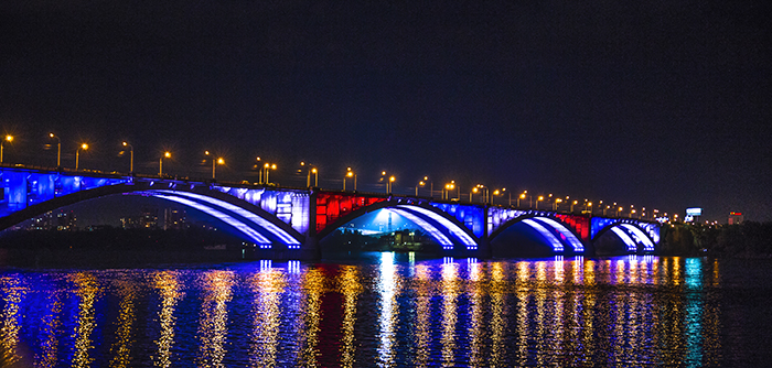 krasnoyarsk bridge Enisej