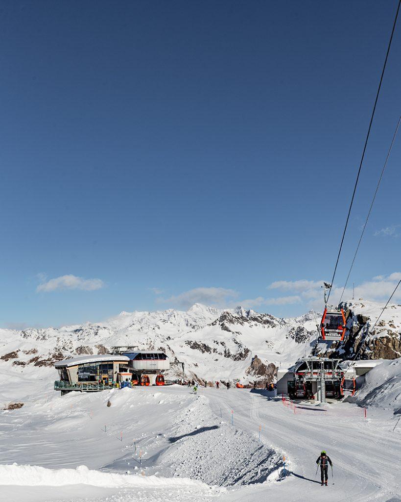 ghiacciaio presena cabinovia