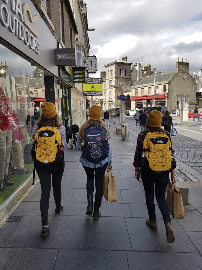 Sara , Ilaria and Valentina in Inverness highlands
