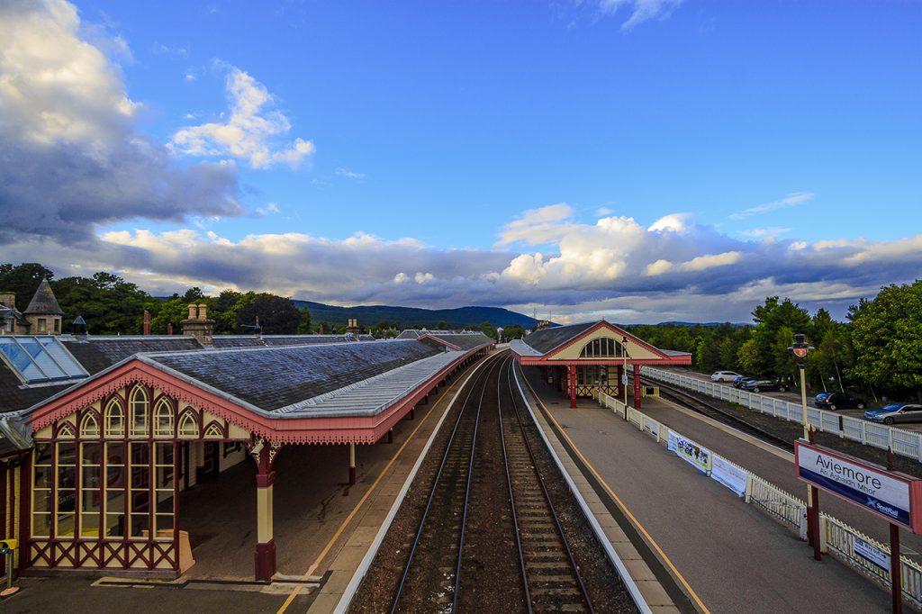 Stazione ferroviaria di Aviemore highlands