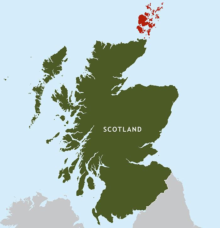 mappa scozia