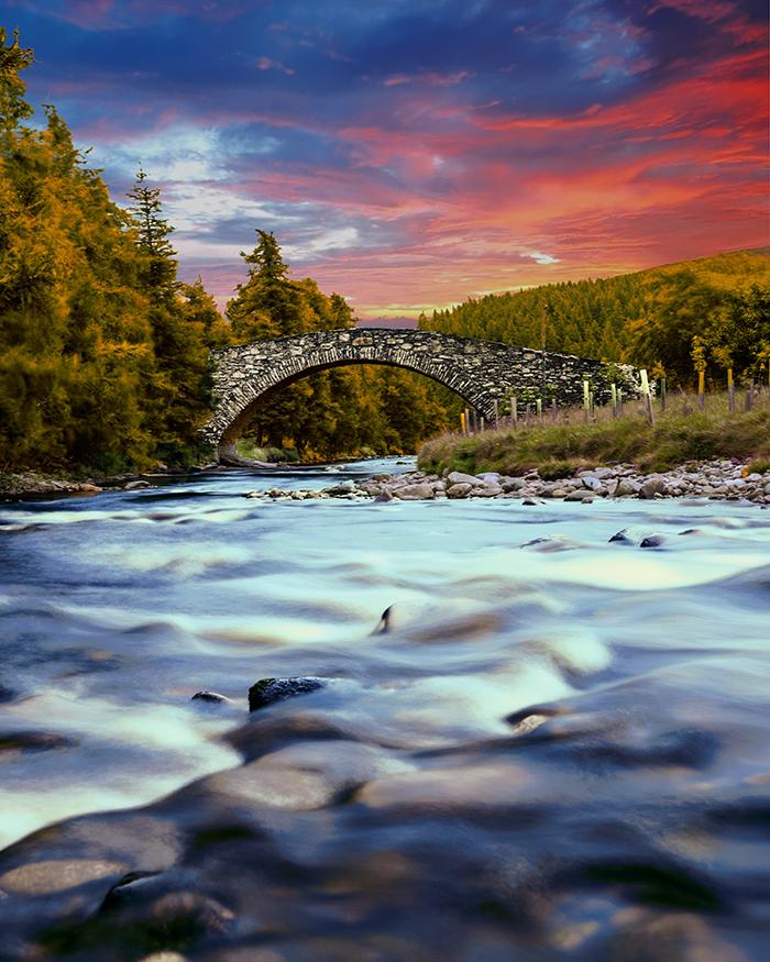 Gairnshiel bridge scozia aberdeenshire