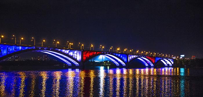 krasnoyarsk bridge Enisej