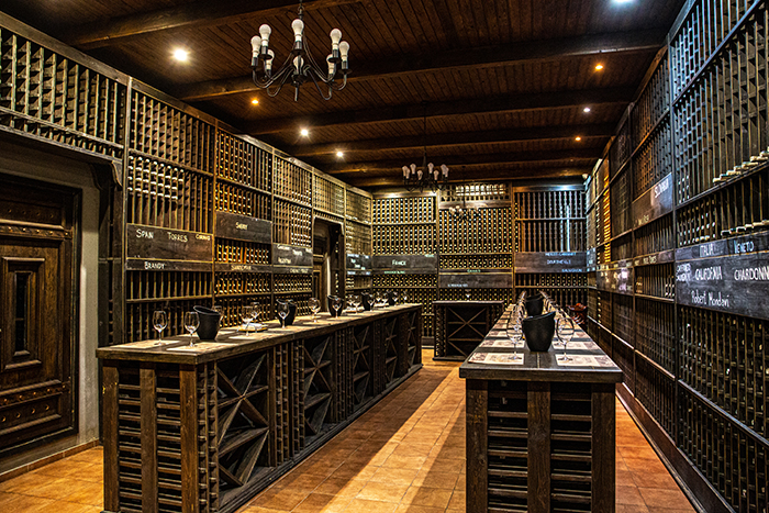 moldavia vino Chateau Vartely sala degustazione