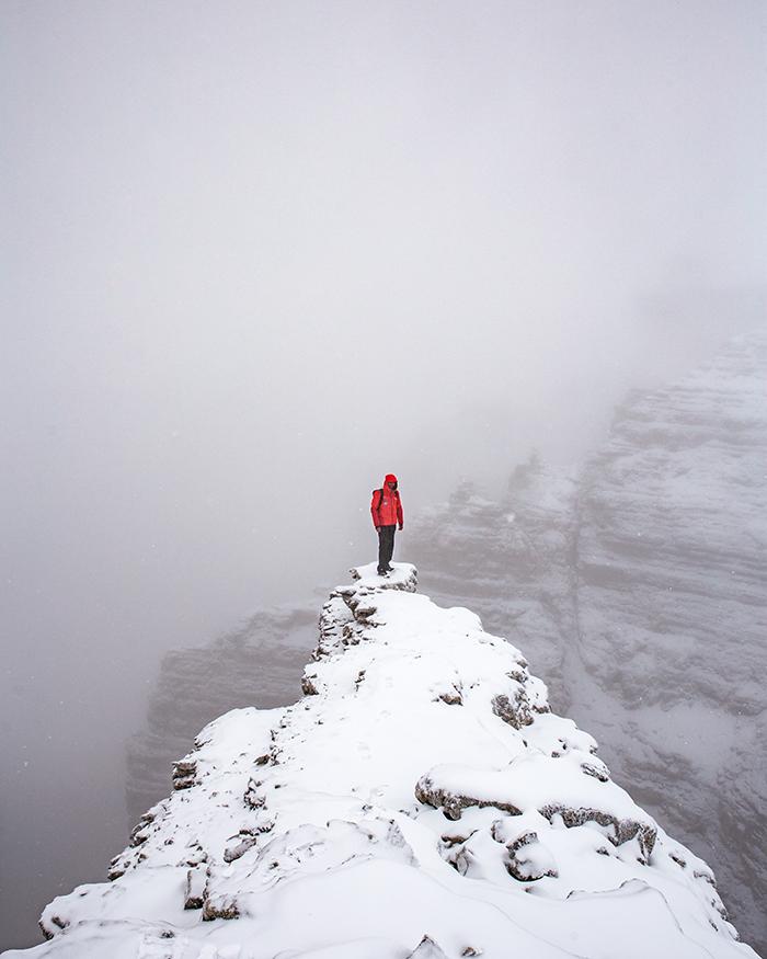 sass pordoi inverno ciaspole
